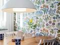 把春天留在家里,11张花样餐厅壁纸效果图 (11)