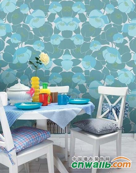 把春天留在家里,11张花样餐厅壁纸效果图