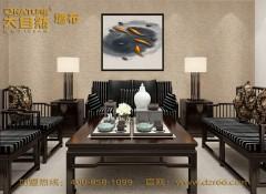 大自然墙布新中式风格装修效果图 (8)