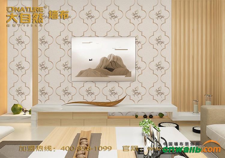 大自然墙布新中式风格装修效果图