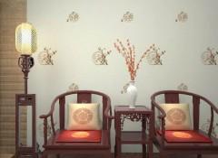 大自然墙布刺绣系列产品装修效果图
