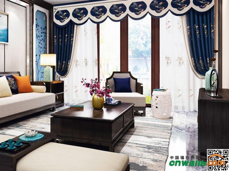 七特丽成品套装窗帘装修效果图
