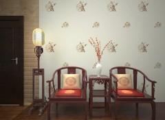 蒙特罗新中式刺绣墙布装修效果图