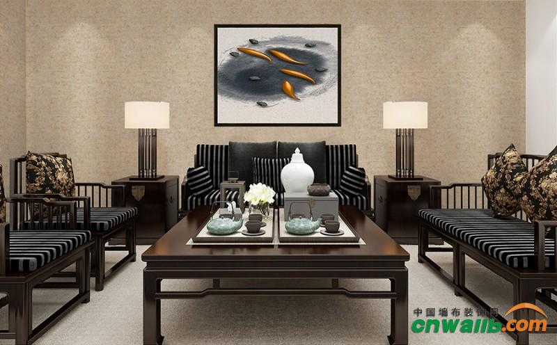 蒙特罗素色系列墙布装修效果图