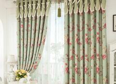 韩式田园风格窗帘效果图 田园风格小清新窗帘