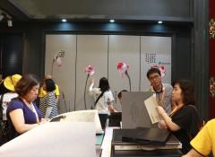 上海墙布展:锦尚帛美演绎墙布美学,这才叫真材实料—展会现场