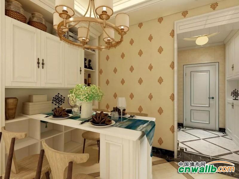御秀简欧风墙布装修效果图,为你打造简单明朗的家!