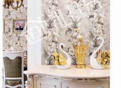 沁绣刺绣墙布美式风格装修效果图 美式墙布客厅装修案例 (14)