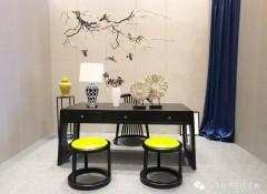 中式墙布装修风格装修效果图 中式墙布客厅背景墙 (12)