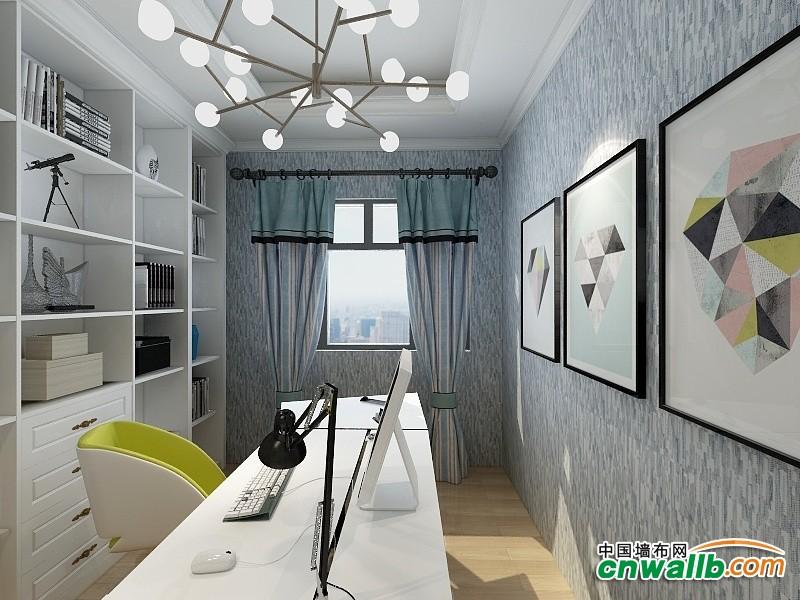 壁尚墙布高端素色系列最新效果图 素色墙布装修案例