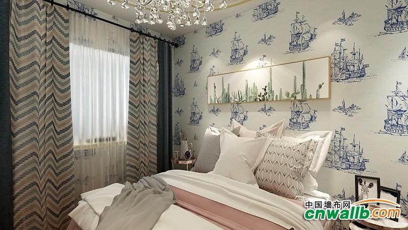 壁尚无缝墙布高档植绒系列装修效果图