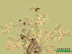 锦尚帛美墙布蚕丝手绘背景BH015