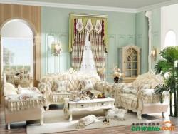 七特丽成品套装窗帘-QTL9801-3