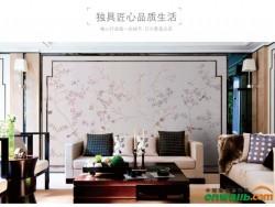 艾是定制花鸟刺绣壁布中式 60101-01