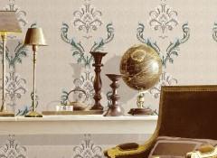 无缝墙布卧室欧式风装修效果图,蝶绣墙布满绣系列产品效果图