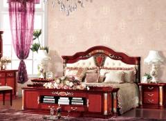 无缝墙布卧室装修效果图,七特丽无缝墙布卧室背景墙装修图