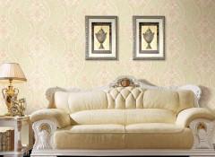 沙发背景墙装修效果图,七特丽墙布背景墙装修案例