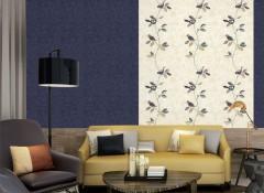蒙特罗无缝墙布法式田园风格装修效果图,沙发背景墙装修