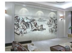 沁绣刺绣墙布独花系列产品效果图,独花墙布背景墙装修图