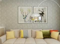 艾是墙布客厅装修效果图,客厅墙布装修案例