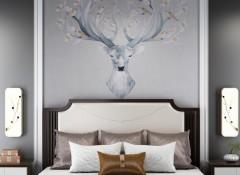 朵薇拉无缝墙布卧室床头背景墙装修效果图