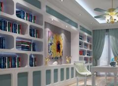朵薇拉无缝墙布地中海装修效果图,地中海客厅装修图 (6)