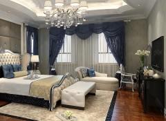 欧式墙布客厅装修效果图,朵薇拉墙布客厅装修图