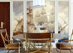 沃莱菲无缝墙布数码印花装修效果图,墙布客厅装修图