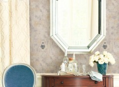 沃莱菲提花刺绣墙布装修效果图,客厅墙布装修