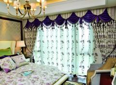 雕刻空间窗帘装修效果图