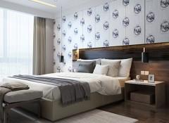 凡情墙布卧室餐厅简约风格装修图,卧室装修图片