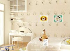 莱可秀尔墙布儿童房刺绣田园风装修图