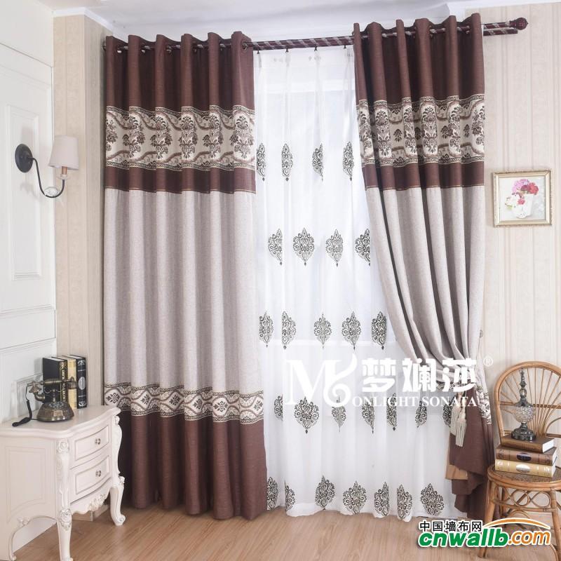 梦斓莎窗帘欧式奢华系列安装效果图