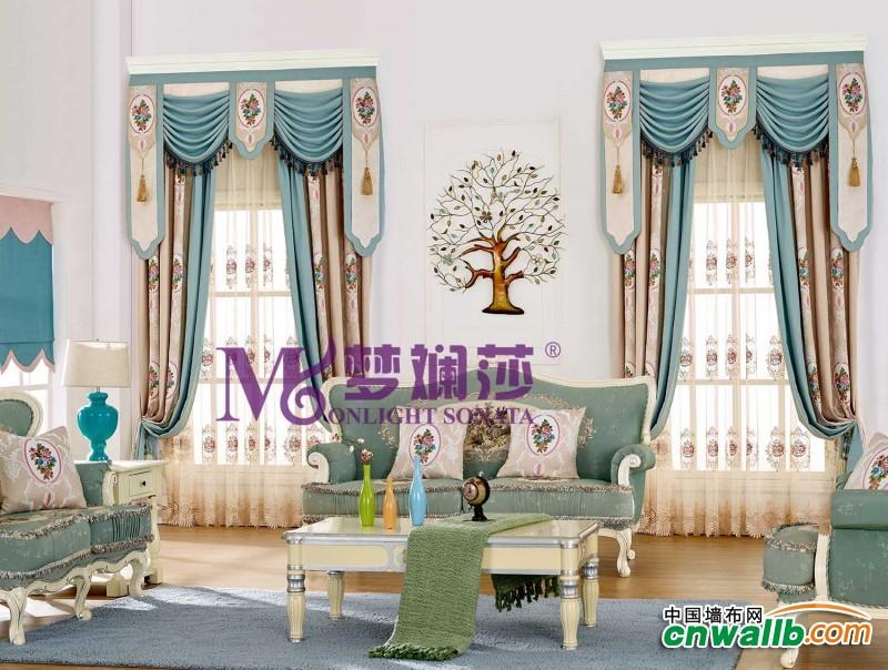 梦斓莎窗帘中式古典风格装修效果图