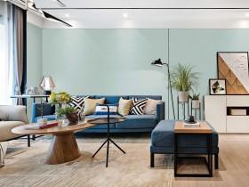 素色墙布轻奢风装修效果图,金壁缘客厅装修图