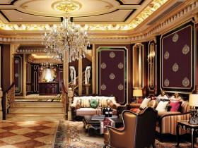 保奇丽美式墙布装修效果图,美式风格墙布装修