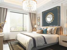 雅逸居生态墙布素色提花效果图,轻奢风格卧室装修