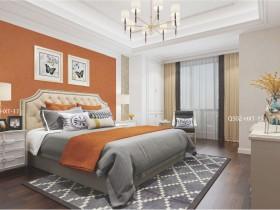 雅逸居墙布现代风装修效果图 现代风卧室装修效果图
