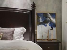 现代风格卧室墙布背景墙装修效果图,格林馨语卧室图