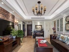 欧式客厅最新墙布装修效果图,格林馨语欧式客厅装修