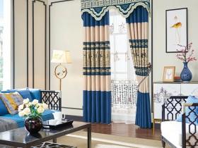 中式风窗帘装修图,布之美窗帘效果图
