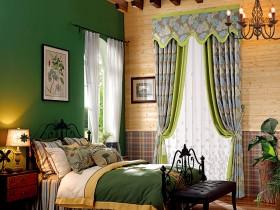 美式风格窗帘效果图,布之美客厅窗帘美式风格