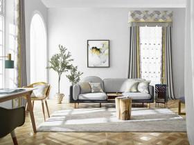 布之美窗帘北欧风格最新装修效果图,北欧风窗帘图
