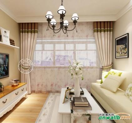 四居室现代风全屋窗帘装修图,如鱼得水全屋窗帘