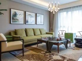 新中式客厅软装搭配,新中式墙布有没有被美醉了呢?