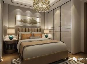 莺牌艺术墙布卧室新古典效果图,金属与墙布的完美结合