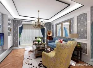 莺牌墙布欧式客厅装修图,三款欧式风格效果图