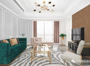 雅逸居墙布新中式装修图,古典端庄和现代的时尚质感