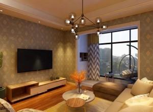 沁绣刺绣墙布北欧风格的家居装饰效果图