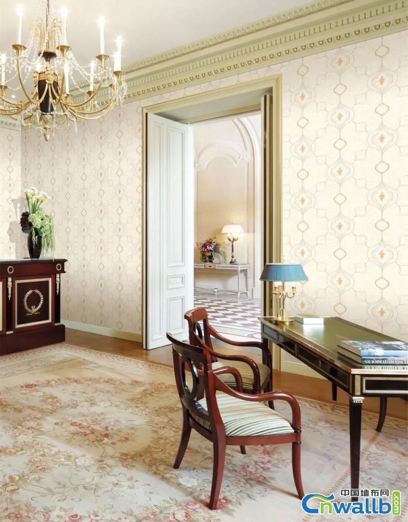 欧仕莱墙布奢华欧式风格客厅玄关背景墙效果图